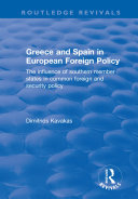 Greece and Spain in European Foreign Policy Pdf/ePub eBook