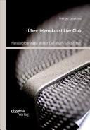 (Über-)lebenskunst Live Club: Herausforderungen kleiner Live-Musik Spielstätten