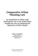 Comparative Urban Planning Law Book PDF