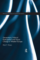 Generations  Political Participation and Social Change in Western Europe