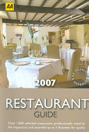 AA Restaurant Guide 2007