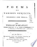 Poems on Various Subjects, Religious and Moral