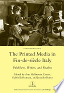 Printed Media in Fin-de-siecle Italy