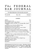 The Federal Bar Journal