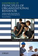 Handbook of Principles of Organizational Behavior [Pdf/ePub] eBook