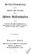 Beispielsammlung zur Theorie und Literatur der Schönen Wissenschaften: Bd. Sinngedichte. Satiren