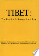 Tibet, the Position in International Law