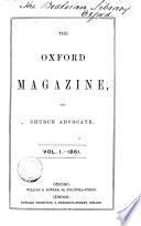 The Parochial Oxford Parochial Magazine Afterw The Oxford Magazine And Church Advocate