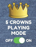 5 Crowns Playing Mode  Book of 200 Score Sheet Pages for 5 Crowns  8 5 by 11 Inches  Funny Denim Cover