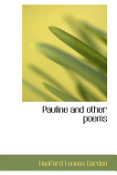 Pauline and Other Poems