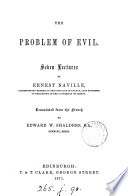 The Problem Of Evil 7 Lects Tr By E W Shalders