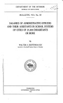 Salaries of Administrative Officers and Their Assistants in School Systems of Cities of 25 000 Inhabitants Or More