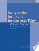 Transportation  Energy  And Environmental Policy