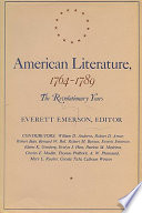 American Literature 1764 1789 Book PDF