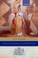 International Legitimacy and World Society Book PDF