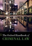 The Oxford Handbook of Criminal Law