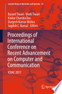 Proceedings Of International Conference On Recent Advancement On Computer And Communication