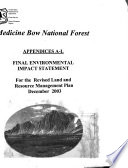 Medicine Bow National Forest  N F    Proposed Revised Land and Resource Management Plan