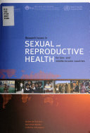 Research Issues in Sexual and Reproductive Health for Low- and Middle-income Countries