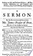 Prelacy an Idol and Prelates Idolaters     a sermon on Hosea ii  2 5