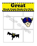 Great Blank Comic Books for Kids