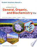 Cover of Student Solutions Manual: Introduction to General, Organic, and Biochemistry