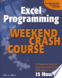 Excel Programming Weekend Crash Course Book PDF