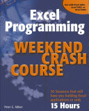 Excel Programming Weekend Crash Course