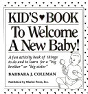 Kid s Book to Welcome a New Baby Book