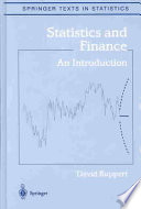 Cover of Statistics and Finance