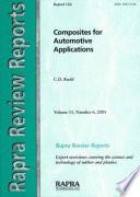 Composites for Automotive Applications Book