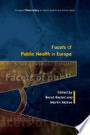 Facets Of Public Health In Europe Book
