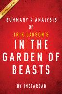 Pdf In the Garden of Beasts: by Erik Larson | Summary & Analysis