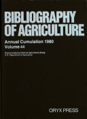 Bibliography Of Agriculture Book PDF