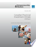 Canadian Provincial Investment Climate