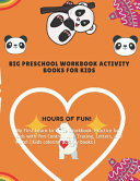 Big Preschool Workbook Activity Books for Kids