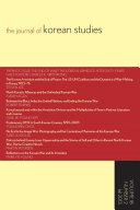 The Journal of Korean Studies, Volume 18, Number 2 (Fall 2013)
