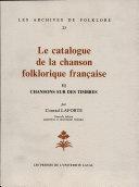 Pdf Le catalogue de la chanson folklorique française Telecharger