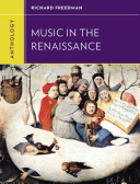 Anthology For Music In The Renaissance Book PDF