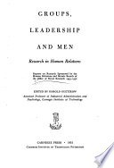 Groups  Leadership and Men Book