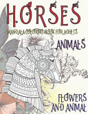 Mandala Coloring Book for Adults Flowers and Animal   Animals   Horses