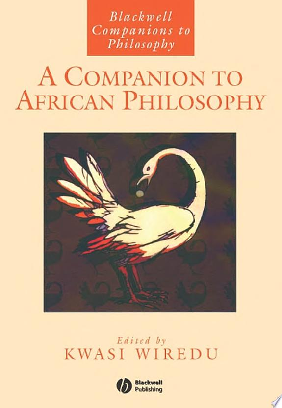 A Companion to African Philosophy banner backdrop