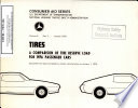 Tires A Comparison Of Tire Reserve Load For 1976 Passenger Cars Compiled From Data Furnished By Vehicle Manufacturers To January 1 1976