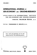 International Journal of Sex economy and Orgone research