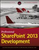 Professional SharePoint 2013 Development