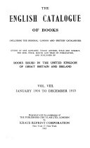 The English Catalogue of Books ... ebook
