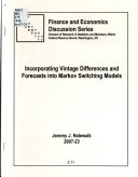 Incorporating Vintage Differences and Forecasts Into Markov Switching Models