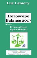 Horoscope Balance 2017