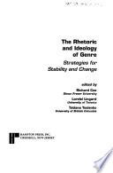 The Rhetoric and Ideology of Genre