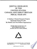 Dental Research in the United States, Canada, and Great Britain
